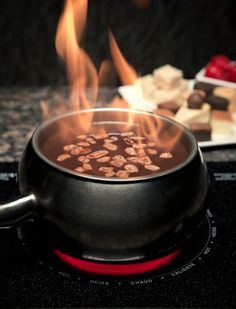 It doesn't get better than this! Make our famous Flaming Turtle #Chocolate #Fondue at home with this recipe from our official cookbook, which features special discounts for #TheMeltingPot valued at around $40! Approximate discount value varies by location. Purchase your own cookbook here: http://shop.meltingpot.com/category/53-gifts.aspx