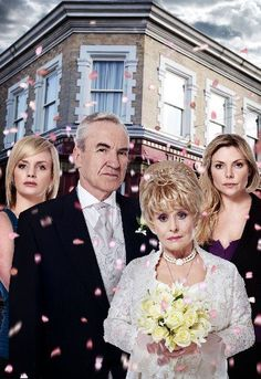 Archie and Peggy's Wedding with Danielle and Ronnie played by Larry Lamb, Barbara Windsor, Lauren Crace and Samantha Womack.