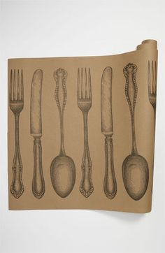 Kitchen Papers by Cake 'Cutlery' Paper Table Runner