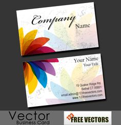 Brilliant flower free vector business cards design, available for free download in EPS format.