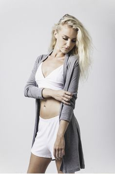 jaime cosy cardi in grey marle, geanine soft bralet in white & bex lace trim short in white available now @ marceau.com.au Lace Trim Shorts, Pyjamas, Summer 2015, Cosy, Charcoal, Range, Beautiful, Cookers