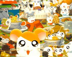 Hamtaro dining out