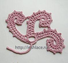 Irish Lace, Irish Crochet motifs , Irlandes motives
