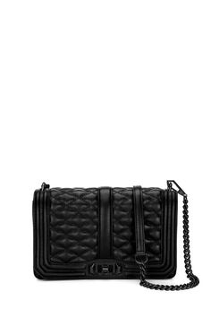 Love Crossbody - Meet your new going-out bag. Quilted and featuring cool silver hardware, the Love Crossbody is a match made in heaven with any outfit. Wear it crossbody or removed the chain strap to use it as a clutch.    Not Eligible For Promotion