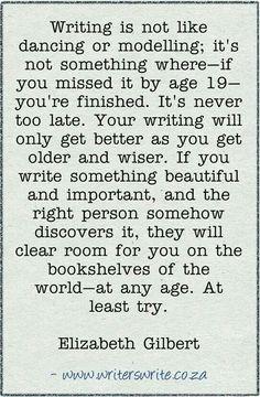 Writing at any age