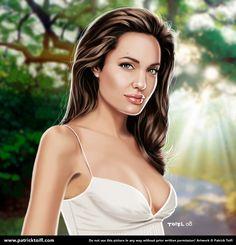 Angelina Jolie by patricktoifl.deviantart.com on @DeviantArt