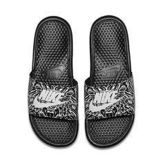 Nike Benassi Just Do It Print Men's Slide 11 - Nike Benassi - Latest & trending Nike Benassi - Nike Benassi Just Do It Print Men's Slide 11 Mens Slip On Sandals, Mens Slide Sandals, Nike Sandals, Women Sandals, Skate, Nike Flip Flops, Nike Slippers, Air Jordan Sneakers, Nike Benassi
