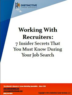 Do you want to be the top choice of a recruiters when an ideal position lands for you on their desk? There is a simple way to make that happen. Build and nurture relationships! Let these insider tips guide you in working more effectively and successfully with recruiters during your job search.