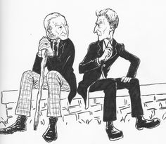The First Doctor encounters the Twelfth Doctor. What do they talk about? Fan art by Me.