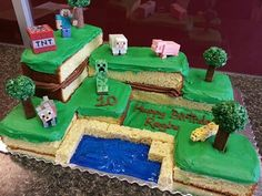 Αποτέλεσμα εικόνας για muñeco de minecraft steve torta
