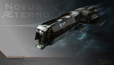 Novus Aeterno: Laminar Capital Ship, Adam Burn on ArtStation at https://www.artstation.com/artwork/novus-aeterno-laminar-capital-ship