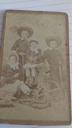 Vintage CDV. Carte de Visite. Four children. Currey & Borland. Morecambe. | eBay