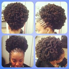 Loc Petals are one of the newest style trends in hairlocking. They can give locs the appearance of being an Afro, or a very intricately sculpted natural hair style. Dreadlock Styles, Dreads Styles, Curly Hair Styles, Pelo Natural, Natural Hair Care, Natural Hair Styles, Dreadlock Hairstyles, Girl Hairstyles, Natural Hair Inspiration