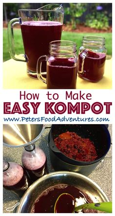 Making homemade juice is super easy and a great way to use up extra fruit from your garden (or an impulse fruit tray purchase) - Kompot Homemade Juice (Компот)