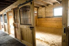 Maybe I'm old-fashioned about stalls, but this is the kind I like...and I think the horses like them too!