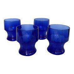 Vintage Cobalt Blue Depression Glasses Blue Drinking Glasses, Vintage Dinnerware, Shower Remodel, Sweet Tea, Mid Century Design, Cobalt Blue, Warehouse, Depression, Blues
