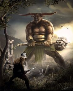 Arzshenk- Islamic myth: a giant, bull headed human who was king of the Devs.