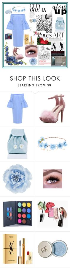 """Blue dress"" by kristina779 ❤ liked on Polyvore featuring Carolina Herrera, Sugarbaby, Monsoon and Yves Saint Laurent"