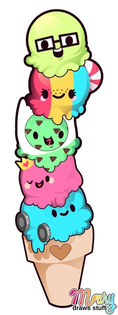 Ice Cream Family Tattoo Design by ~marywinkler on deviantART