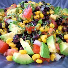 black bean salad....
