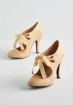1910- 1920s style shoes: Tea on the Train Heel in Biscotti $59.99 AT vintagedancer.com