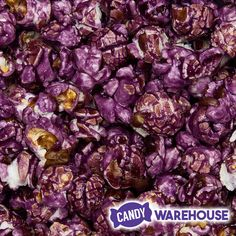 Woohoo—Purple Grape Candy Coated Popcorn Bulk Candy, Candy Store, Wholesale Candy, Types Of Candy, Purple Candy, Gourmet Popcorn, New Inventions, Jelly Beans, Wedding Ideas