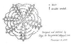 crochet snowflake symbol chart