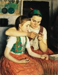 Buy online, view images and see past prices for Glatz Oszkár: 1872 - Girls, cm:. Invaluable is the world's largest marketplace for art, antiques, and collectibles. Photo Facebook, Art Du Fil, Knit Art, Hungarian Embroidery, Sewing Lessons, Sewing Art, Paintings I Love, Mothers Love, Mother And Child