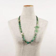 collana di turchese e giada