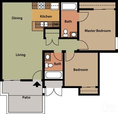 Sunset Springs Apartments, Vista - 2 Bed, 2 Bath - $1275-$1550