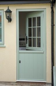 sage green stable door (at the milford window company) WANT!!!