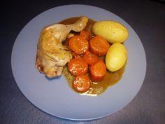 Cuisses de poulet, carottes et pommes de terre au cookéo