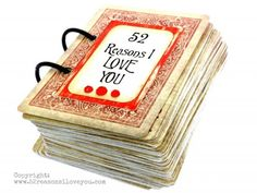 Tutorial | 52 Reasons I Love You Gift Book for Valentine's Day