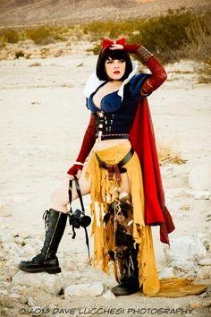 Cosplayer Heather Harris bringing to life Tess Folwer's Apocalypse Snow White.
