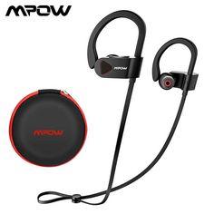ec519f6499f Mpow Earphone Sport D8 Bluetooth Wireless IPX7 Waterproof Headphones  Bluetooth #Mpow Sports Headphones, Bluetooth