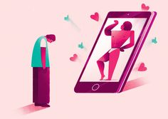 Social media, illustration for The Guardian by Thomas Pullin.