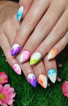 Sharpie watercolour nail art www.kawaiiklaws.com