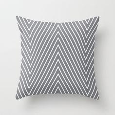 grey chevron Throw Pillow by CE Design Studios - $20.00