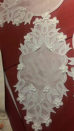 RANIR Embroidery Flowers Pattern, Embroidery Motifs, Machine Embroidery Patterns, White Embroidery, Flower Patterns, Embroidery Designs, Crochet Borders, Crochet Stitches, Irish Crochet Tutorial