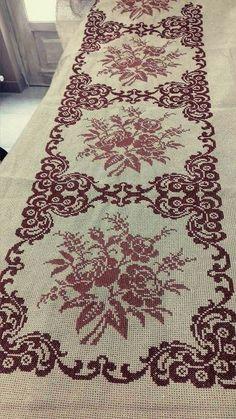 Cross Stitch Borders, Cross Stitch Rose, Cross Stitch Flowers, Cross Stitch Charts, Cross Stitch Designs, Cross Stitching, Cross Stitch Embroidery, Cross Stitch Patterns, Filet Crochet Charts