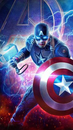 Captain America Lifts Thor Hammer iPhone Wallpaper - Rich Tutorial and Ideas