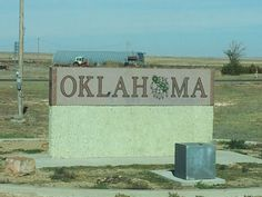 Oklahoma State Welcome Sign