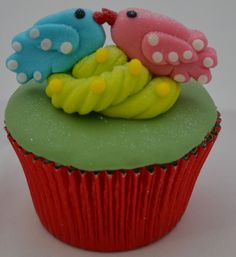 Passo a Passo Cupcake Casal de Passarinhos por Elisabeth Teodoro