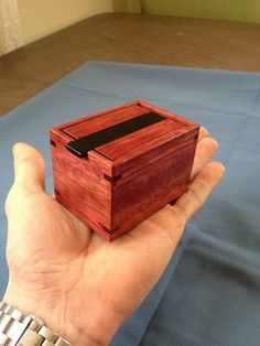 This little box was a gift for my wife and its just like my keepsake boxes only ALOT smaller. The box measures wide long and tall (outside). Wooden Puzzle Box, Small Wooden Boxes, Wooden Keepsake Box, Small Boxes, Wood Boxes, Keepsake Boxes, Wooden Puzzles, Woodworking Box, Woodworking Projects
