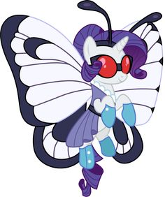 Rarity as Butterfree by CloudyGlow