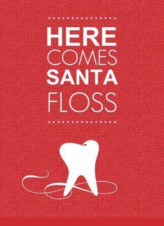 Here comes Santa Floss... #dentistry #dentaljokes #dentuit