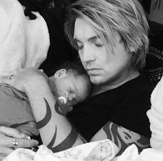Alex Band and his son Max