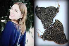 Earrings Odin's Horns by PaganStudioYarinka on Etsy Viking Jewelry, Horns, Dreadlocks, Trending Outfits, Hair Styles, Unique Jewelry, Handmade Gifts, Earrings, Beauty