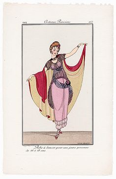 Gerda Wegener 1914 Journal des Dames et des Modes Costumes Parisiens N°165 Ball Dress