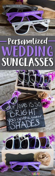 Bring on the smiles and good times with personalized wedding #sunglasses! Design your own custom wedding sunglasses and get the party started! Make sure to order extra as everyone will want a pair of these amazing wedding favors!